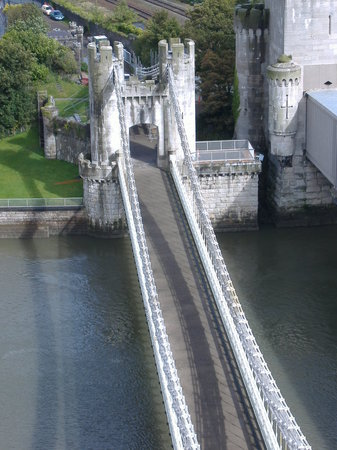 Conwy Castle: The bridge to Conwy