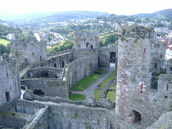 Conwy, UK : Castle interior