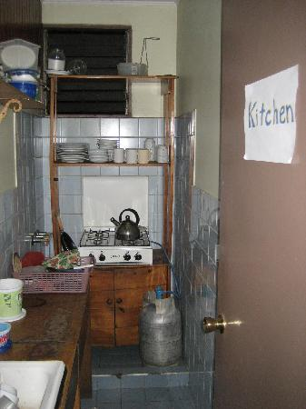 Kabata Hostel: The kitchen...not shown: the dining area, which is spacious with at least 4 tables.
