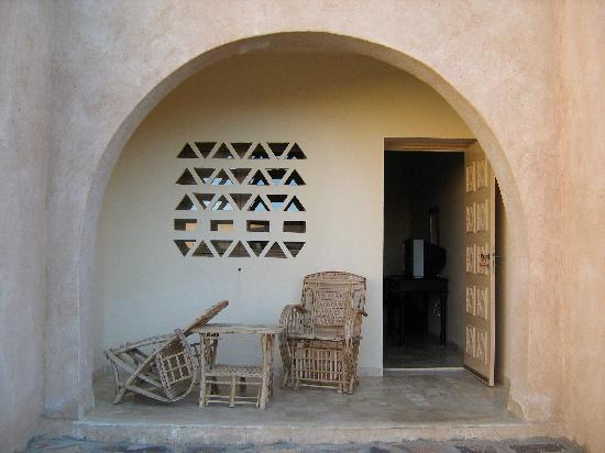 Dar Ghadames Hotel: view of the room from the inner garden