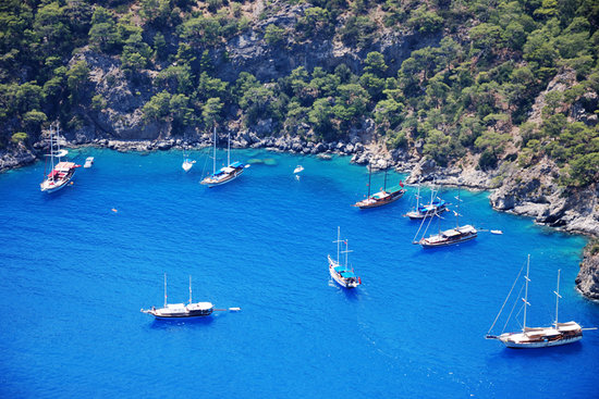 Oludeniz, Turchia: ships...
