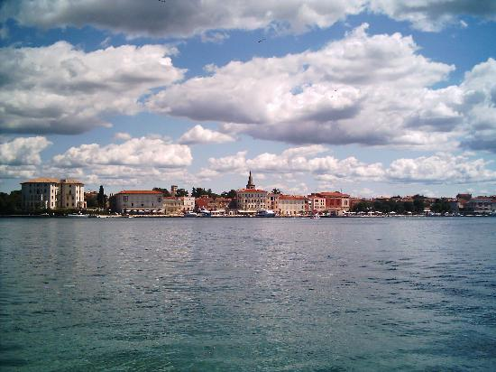 Valamar Riviera Hotel & Residence: Porec viewed from across the water on St Nicholas island