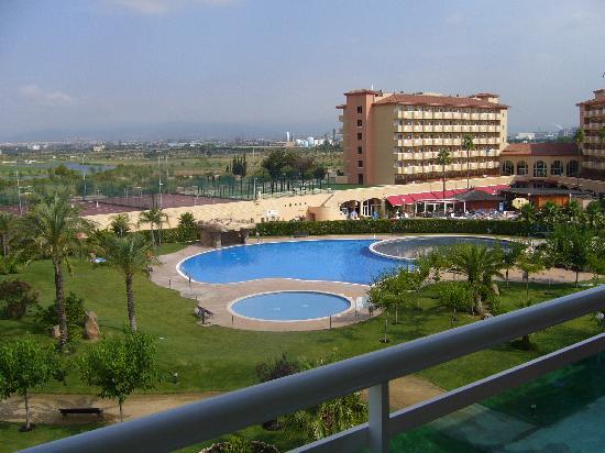 Apartamentos Los Juncos: vue de notre appartement sur l'hôtel