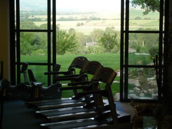 Hotel Adler Thermae Spa & Relax Resort: view from the gym