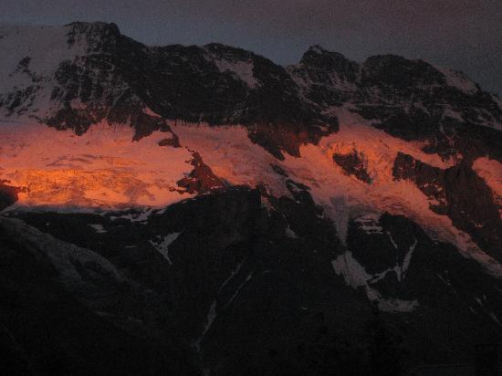 Sunset from Eiger Guesthouse