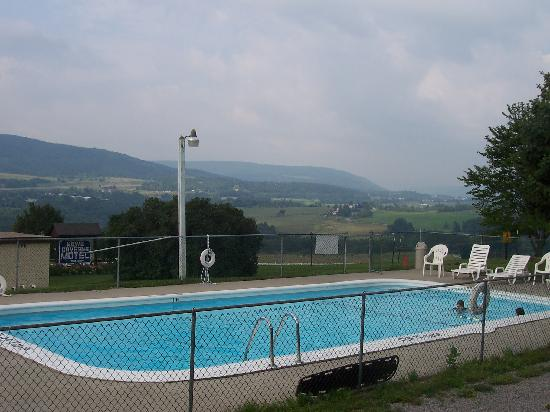Howe Caverns Motel: pool view
