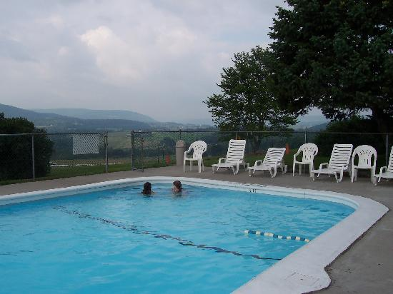 Howe Caverns Motel: pool with a view
