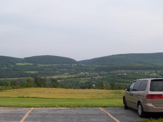 Howe Caverns Motel: view from the room