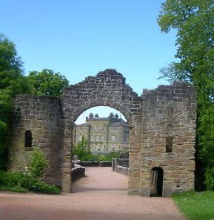 Culzean Castle through the ruined arch