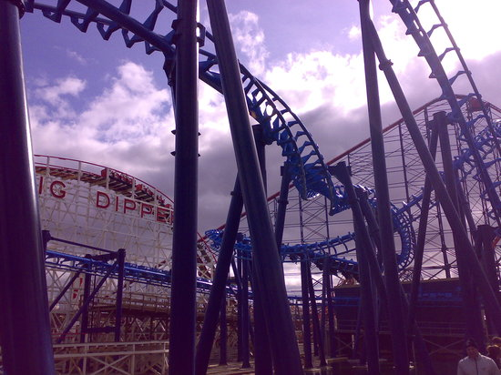 Pleasure Beach : Dipper, Big One, Infusion