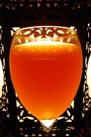 Talisman Hotel de Charme: Mango juice upon arrival