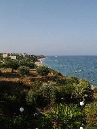 Panorama Studios and Apartments: View of the beach from the Panorama