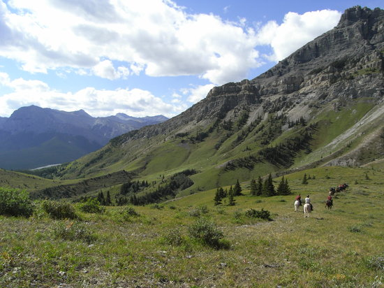 Kananaskis Country, Canadá: We met another pack ride