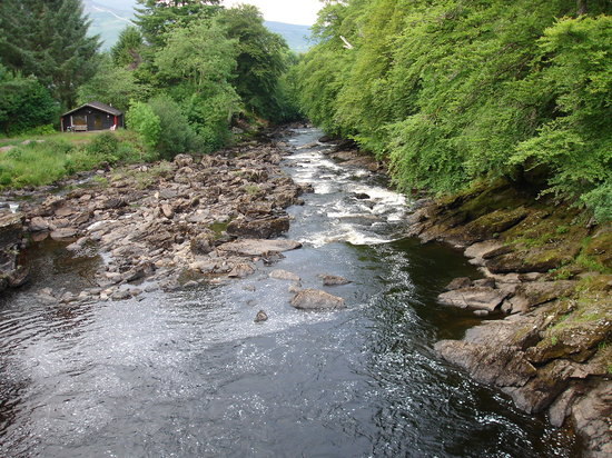 Killin, UK: The Falls of Dochart 1