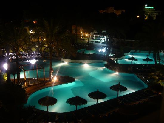 Prinsotel La Dorada: The Pool Area at night