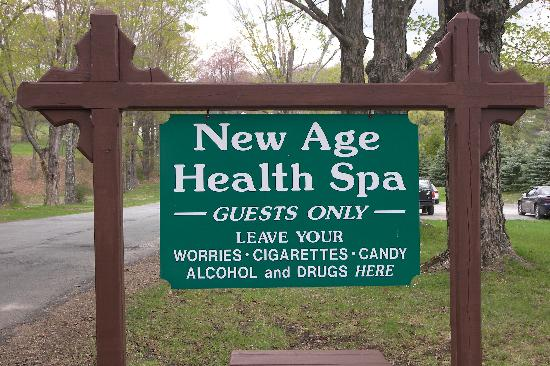 New Age Health Spa: Warning Sign