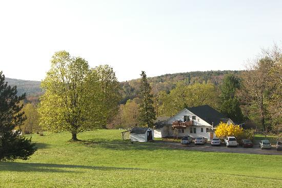Neversink, NY: View overlooking Cabins