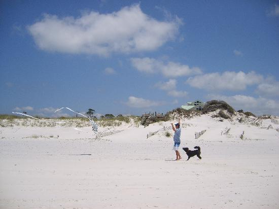 Cape San Blas : Flyin' a kite