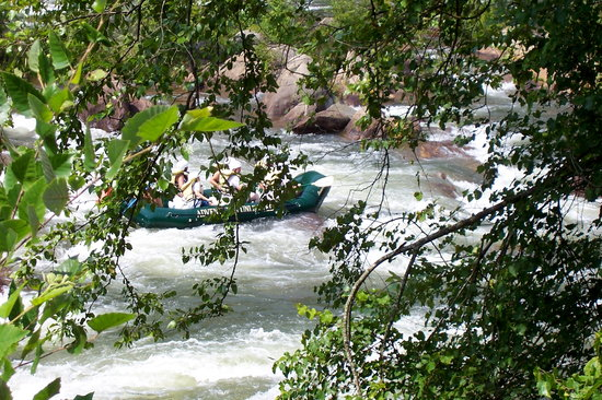 Cherokee National Forest: Ocoee river whitewater rafters