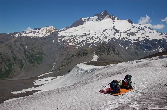 Antuco, شيلي: un paso de nieve aun en verano