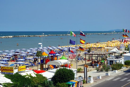 la plage direction Rimini