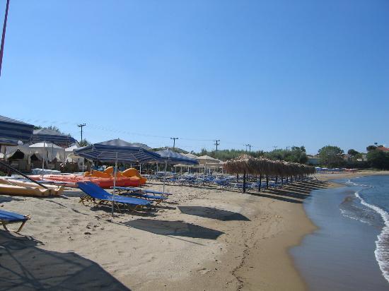 Myrina, Greece: the beach near aphrodite appts