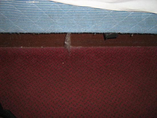 Travelodge Bangor: This was the state of the carpet by the bed...