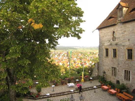 Hotel Burg Colmberg: View from the window