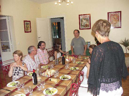 Villa Florida : table conviviale
