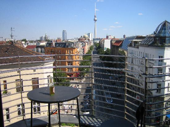 TopDomizil Apartments Panorama Friedrichstrasse: Looking out from the balcony