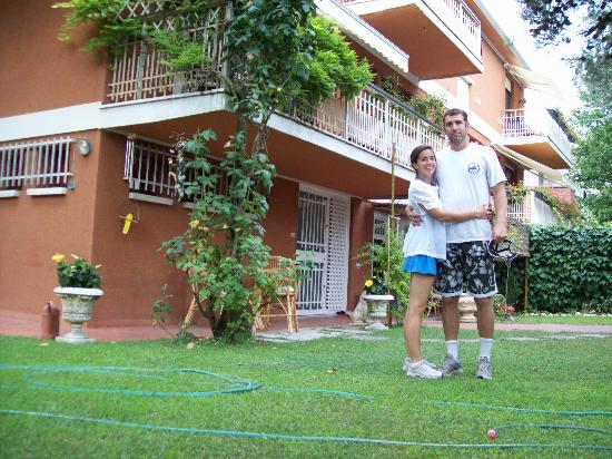 Casa Mari Bed & Breakfast: My wife and I in front of our suite