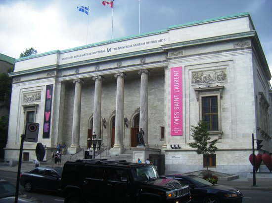 Montreal Museum of Fine Arts (Musee des Beaux-Arts): The museum from Sherbrooke St.