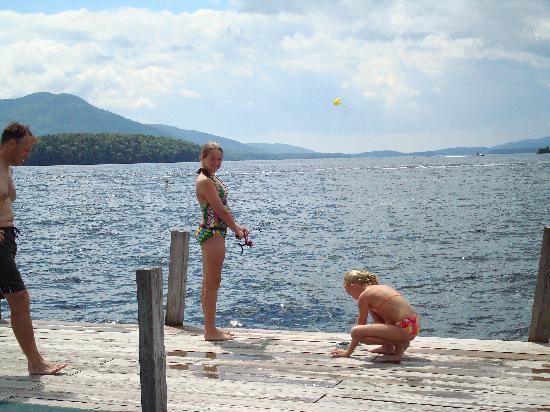 The Sagamore Resort: Fishing from Swimming Dock