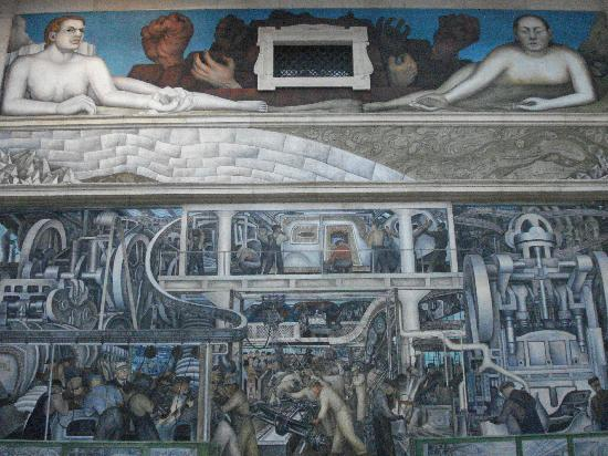 Diego rivera mural picture of detroit institute for Diego rivera detroit mural