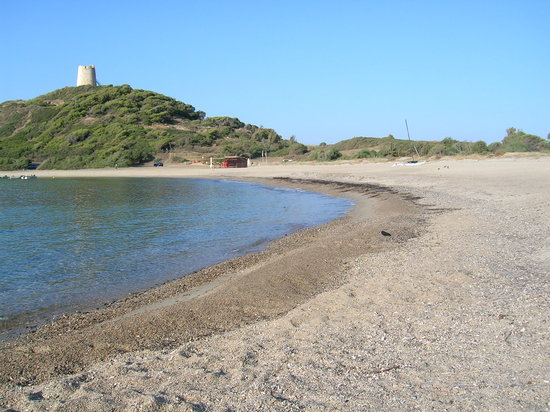 Club Valtur Parco Torre Chia : Le alghe in spiaggia
