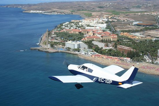 Gran Canaria, Espagne : vuelo sobre maspalomas