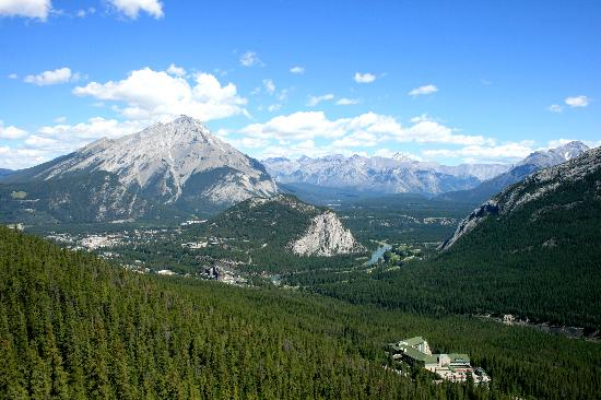 Elkhorn Lodge: Banff from the Gondola