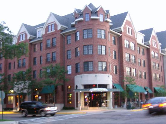 The Townsend Hotel: The outside of the hotel