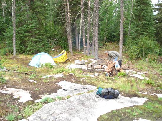 Kwastichewan Falls : 1st of three campsites