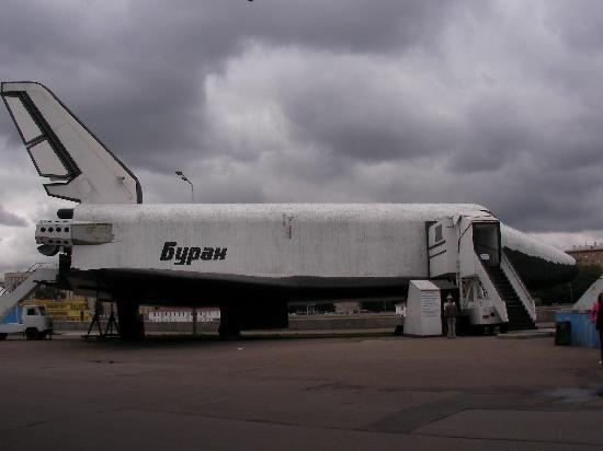 Gorkiy Central Park of Culture and Recreation: Russian Space Shuttle, a copy of the US shuttle.  Flew once unmanned then turned into an attract