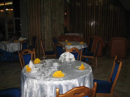 Decebal Hotel: Part of the large hotel dinind area.