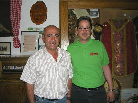 Hotel Ebner: Mr.Andres Osinger & I in the Hotel's Museum
