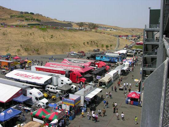Sonoma Raceway: The Pit Area