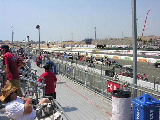 Sonoma Raceway: View down the track