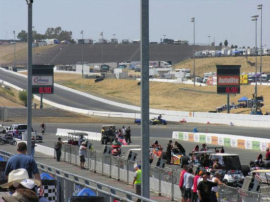 Sonoma Raceway: View down the track