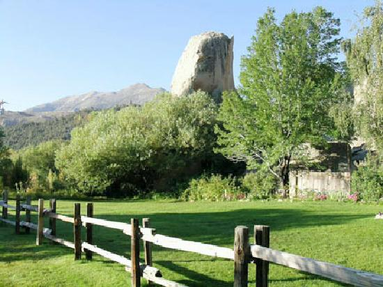 Rainbow Tarns: This sentinel rock stands at the approach to the inn