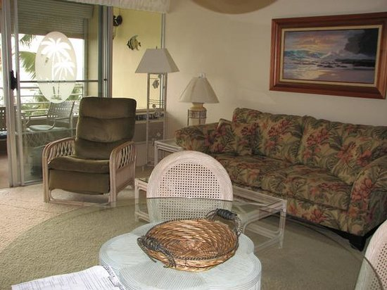 Kamaole Beach Royale Resort, ( #608): living room view 1
