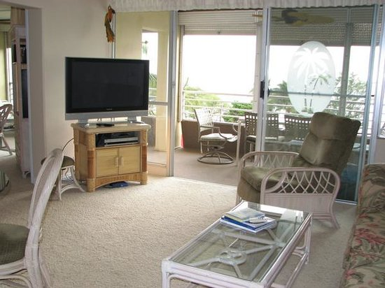 Kamaole Beach Royale Resort, ( #608): living room view 2