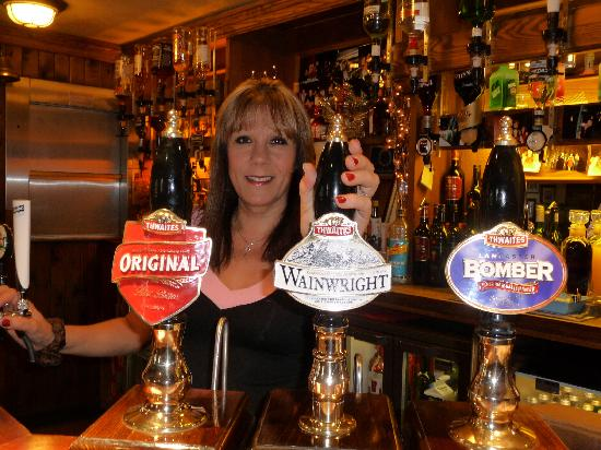 The Globe Inn: Landlady Maria Akister offers a warm welcome with real cask beers