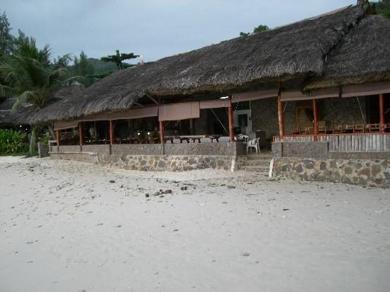 Chez Batista Villas: restaurant from beach